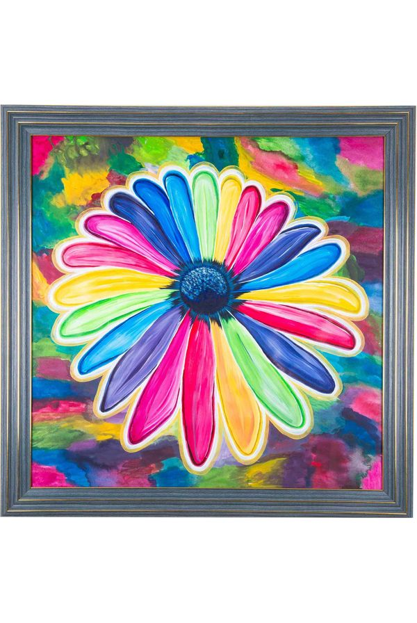 Color of Joy - Hand painted art - Size 25.2(H) Inch * 25.2(W) Inch