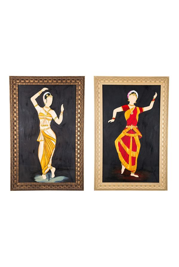 """""""Classical move rhythmically - Combo offer;  Hand painted art - Size 31.5(H) Inch * 20.3(W) Inch of each art"""""""