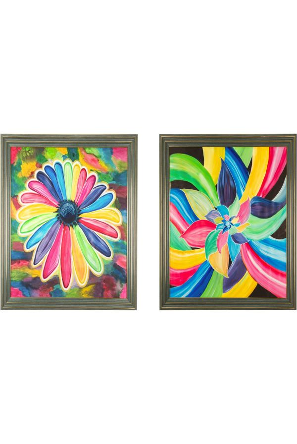 """Color of Joy & Success - Combo offer;  Hand painted art Size 25.2(H) Inch * 25.2(W) Inch of each art"""