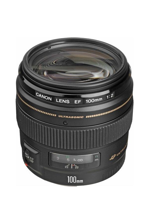 Canon EF 100mm f/2 USM Lens (Black, Telephoto Lens)
