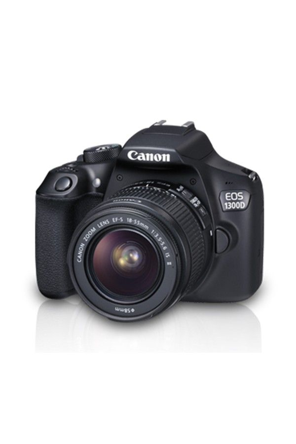 Canon EOS 1300D DSLR Camera with 18-55mm IS Lens (Black)