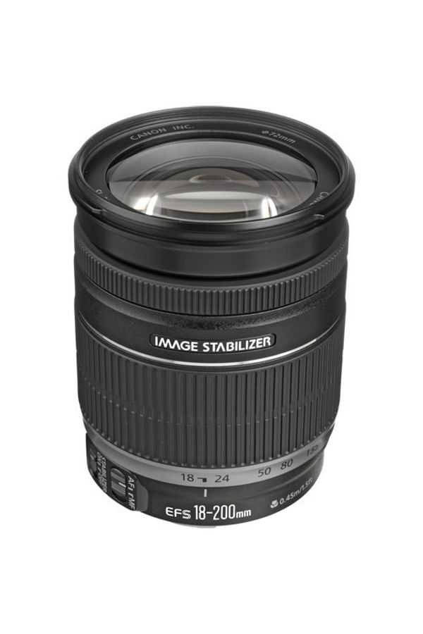 Canon EF-S 18 - 200mm f/3.5-5.6 IS Lens (Black, Super Zoom Lens)