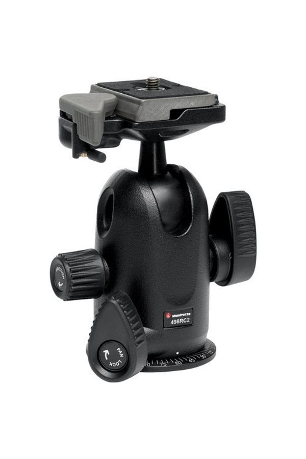 Manfrotto 498RC2 (Ball Head) (Black, Supports Up to 8000 g)