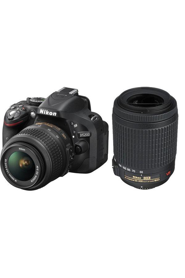 Nikon D5200 DSLR Camera with 18-55mm + 55-200mm Lens