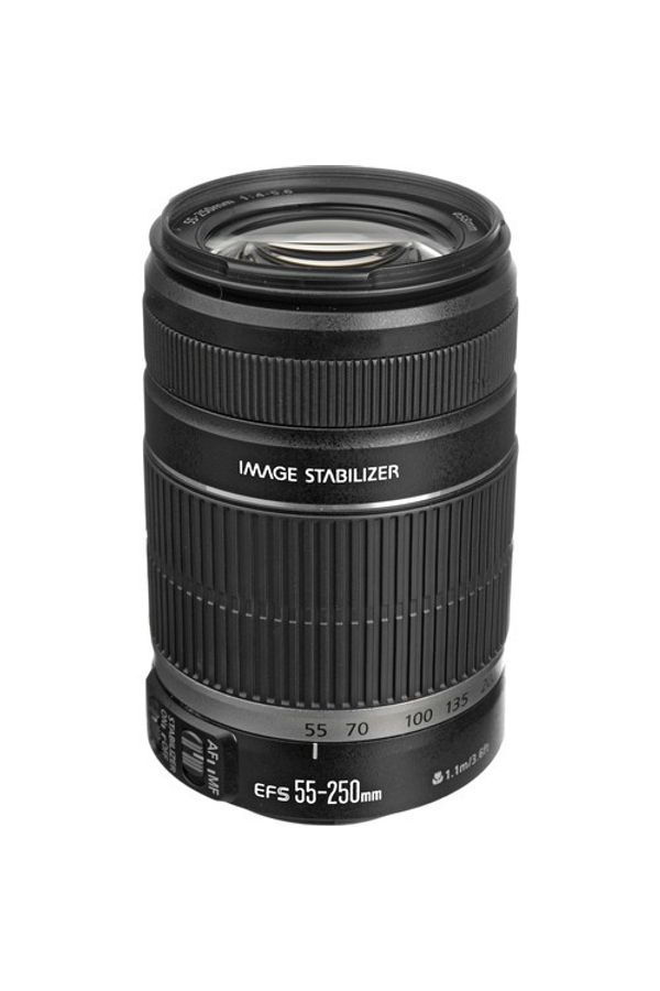 Canon EF-S 55 - 250mm f/4-5.6 IS II Lens (Black, Telephoto Zoom Lens)
