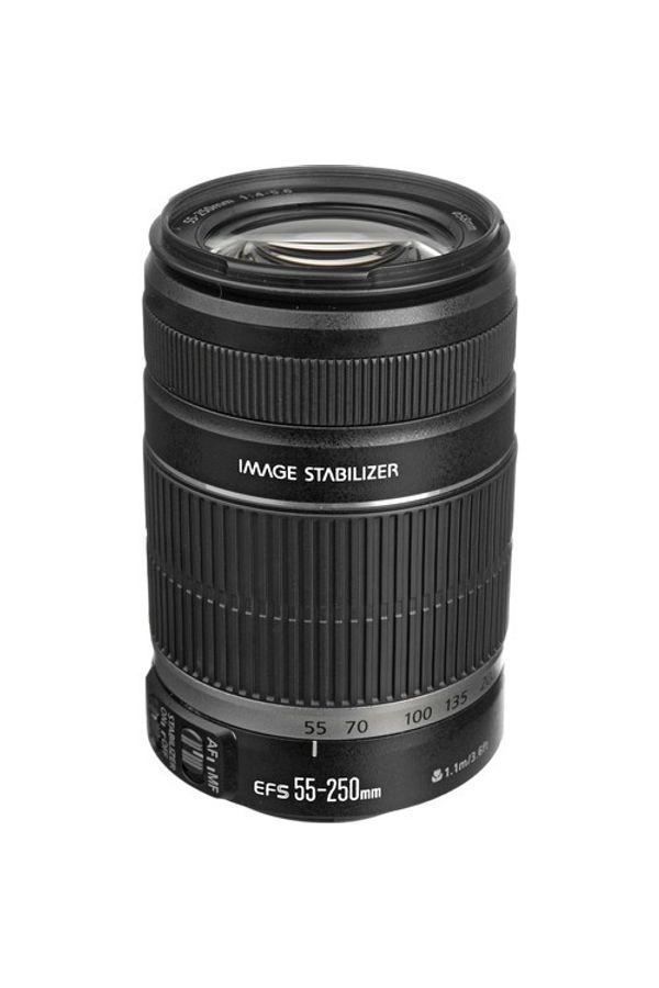Canon EF-S 55 - 250mm f/4-5.6 IS II Lens (Black, Telephoto Zoom Lens)