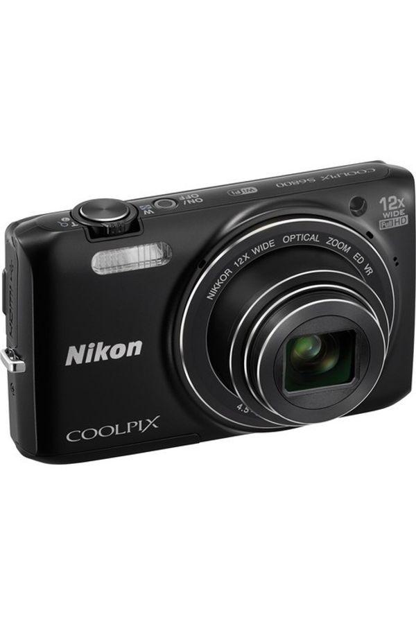 Nikon Coolpix S6800 Point & Shoot Camera (Black)