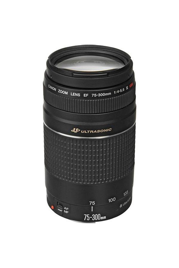 Canon EF 75 - 300mm f/4-5.6 III USM Lens (Black, Telephoto Zoom Lens)