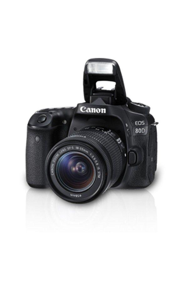 Canon EOS 80D DSLR Camera 18-55mm IS Lens (Black)