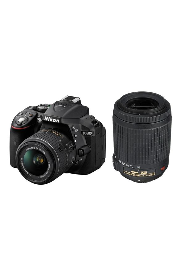 Nikon D5300 DSLR Camera with 18-55mm + 55-200mm Lens