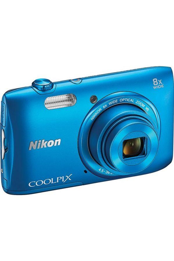 Nikon Coolpix S3600 Point & Shoot Camera (Blue)