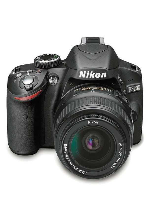 Nikon D3200 DSLR Camera with 18-55mm and 55-200mm Lenses (Black)