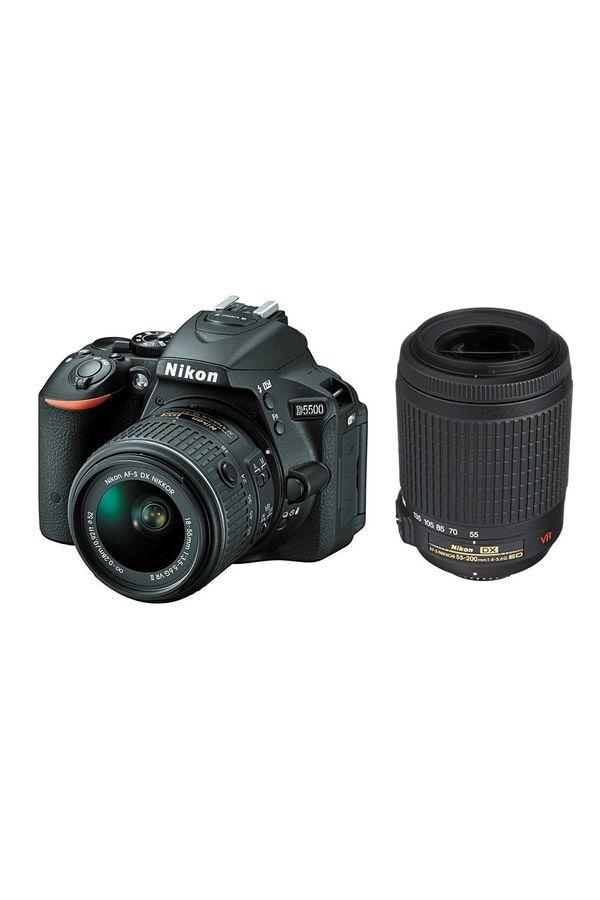 Nikon D5500 DSLR Camera with 18-55mm + 55-200mm Lens (Black)