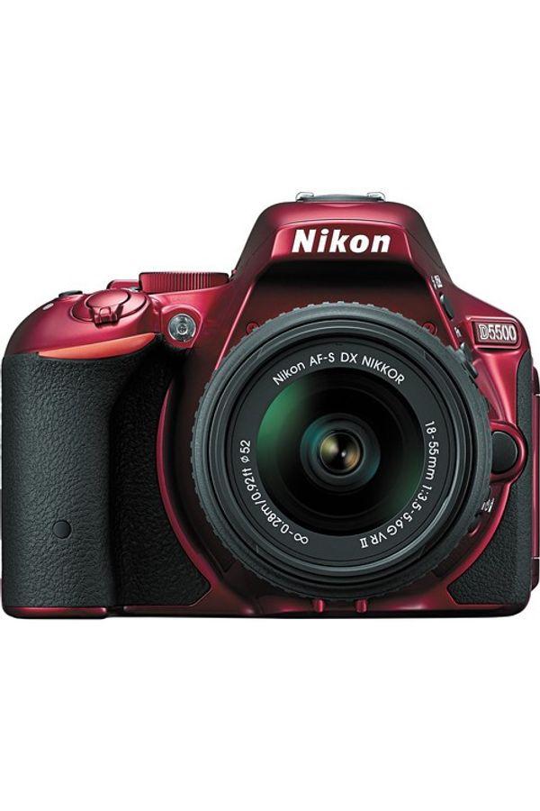 Nikon D5500 DSLR Camera with 18-55mm Lens (Red)