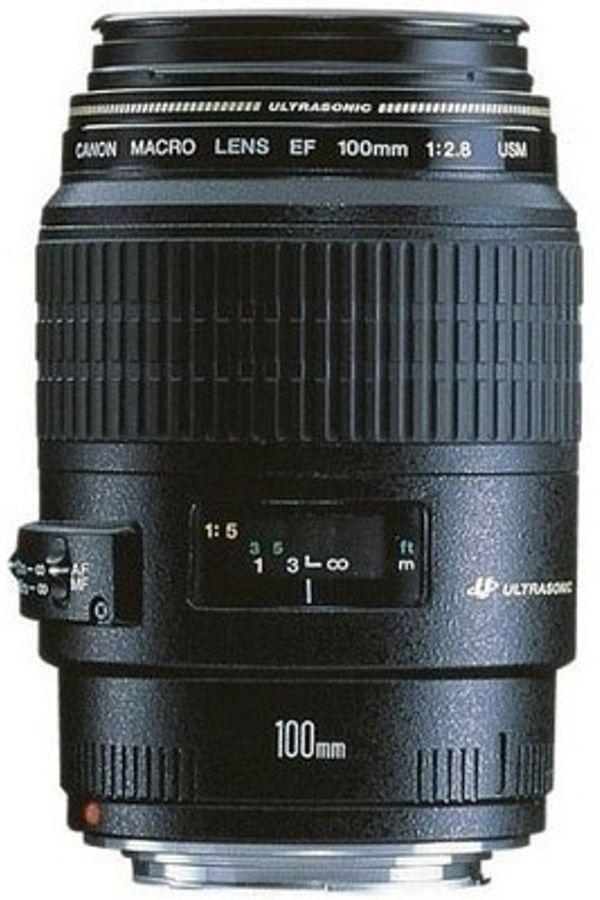 Canon EF 100 mm f/2.8 Macro USM Lens (Black, Macro Lens)