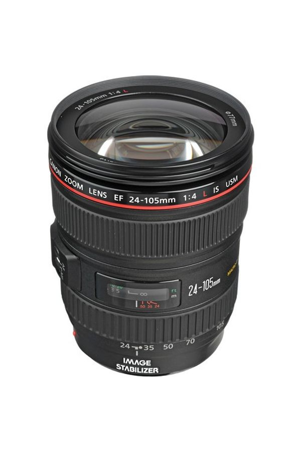 Canon EF 24 - 105mm f/4L IS USM Lens (Black, Telephoto Zoom Lens)