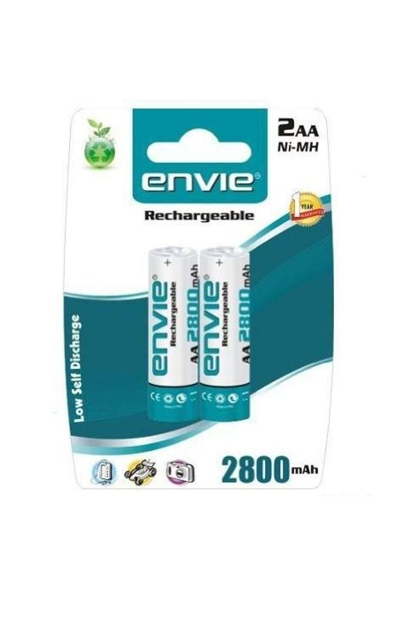 Envie Rechargeable Battery AA 2800 2PL