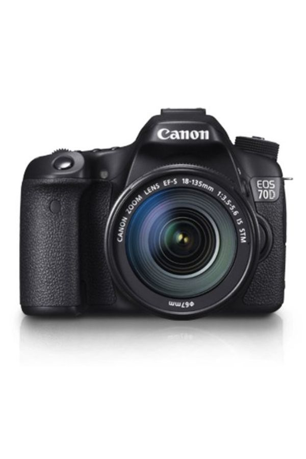 Canon EOS 70D DSLR Camera (Black, Body with EF-S 18-135 mm IS STM Lens)