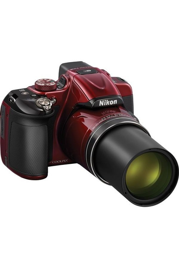 Nikon Coolpix P600 Point & Shoot Camera (Red)