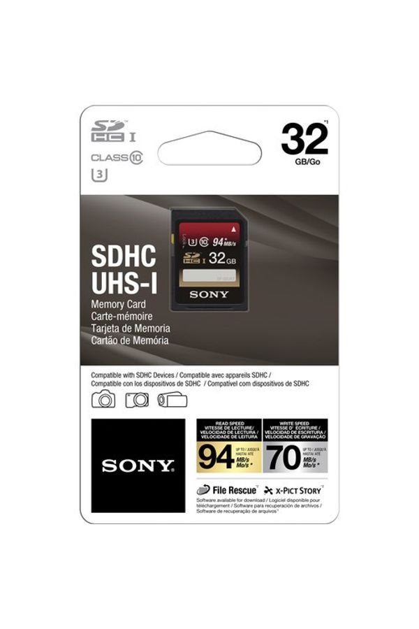 Sony 32GB SDHC Class 10 UHS-1 Memory Card 94mb/s