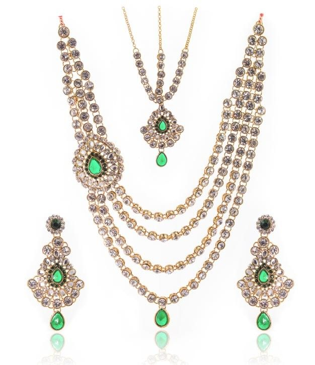 Alluring Multi strings Necklace Set