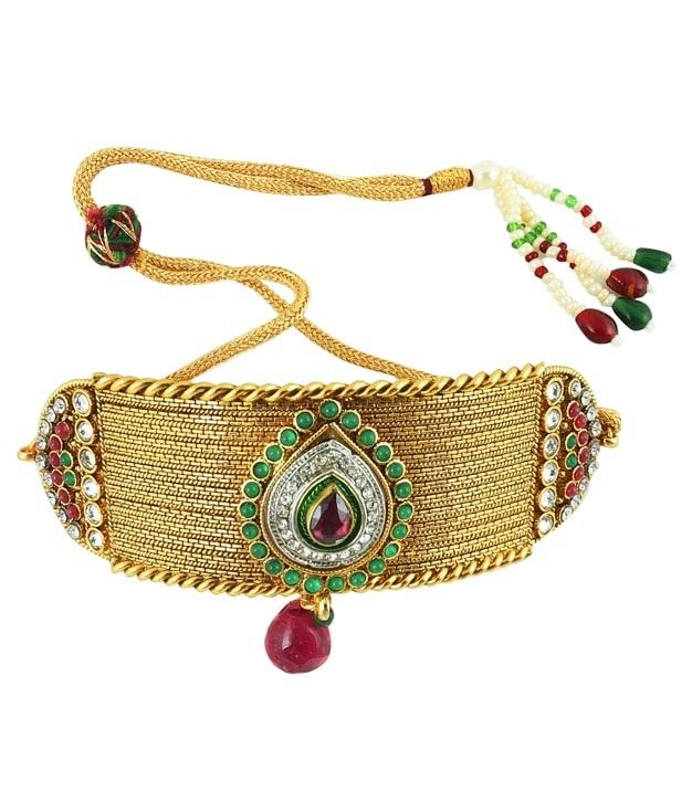 Amazing Bridal Kundan Armlet with Kundan and CZ Stones