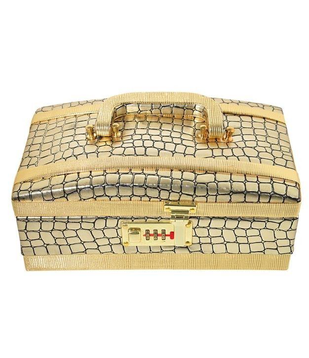 Beautiful Beige Designer Jewellery Box