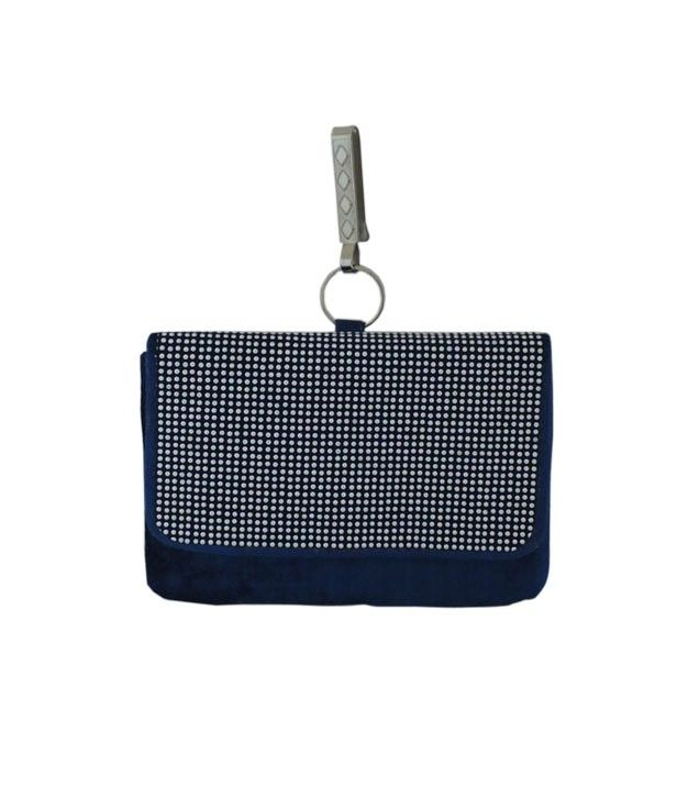 Chic Blue and White Mobile Pouch for Women