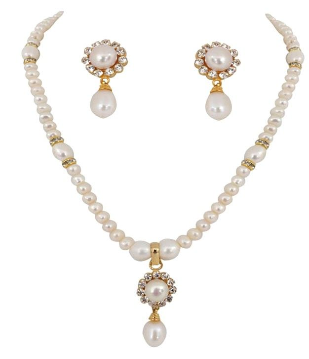 Pearl Button Drop Pendent Set