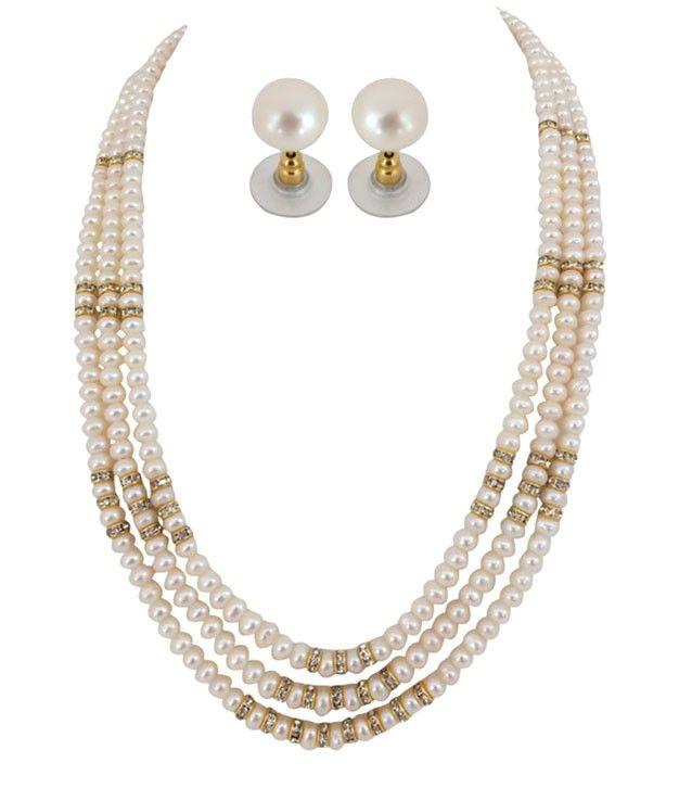 Three Lines Chakri Pearls Set