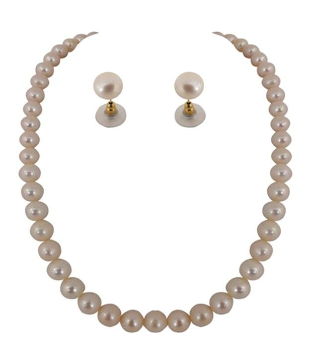 Nice Single Line Round Pearl Set
