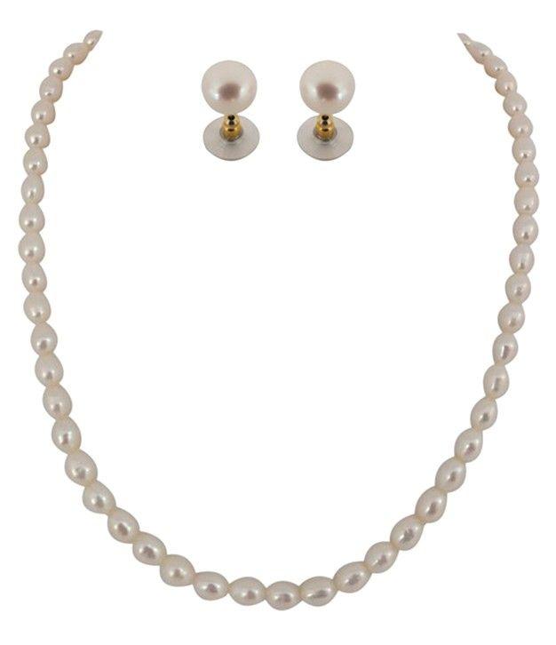 Silken Kalki Single Line Fresh Water Pearl Set