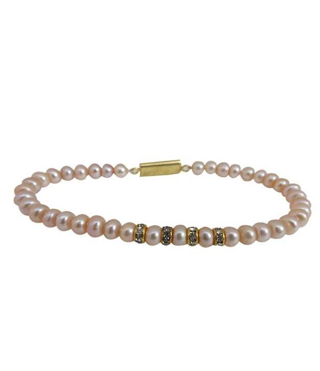 Design Orange Pearl Bracelet