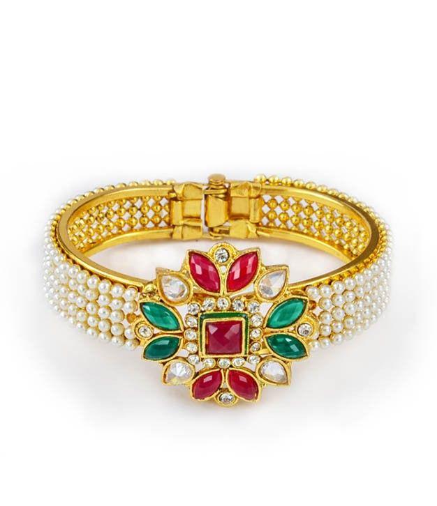 Elegant Pearl Ethnic Designer Bracelet