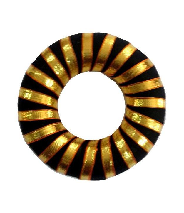 Hair Ring (bun) with Golden Ribbon