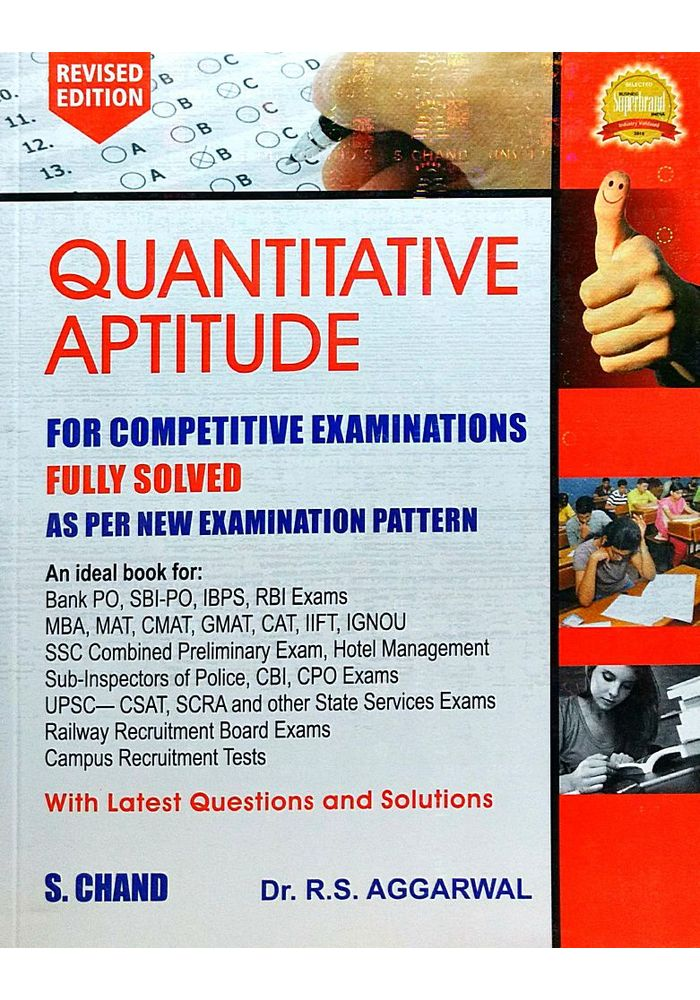 Quantitative Aptitude For Competitive Examinations By Dr R S