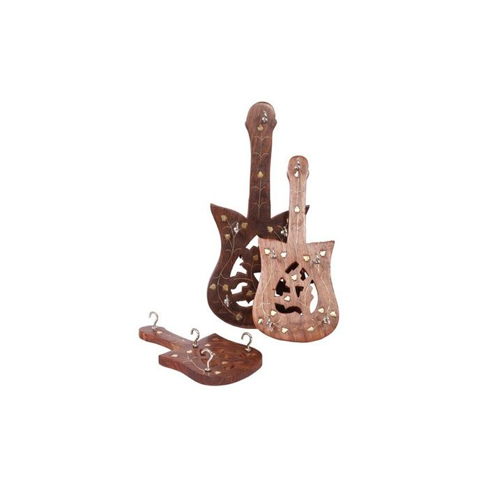 Wooden Guitar Key Holder Set Of 3 Pieces