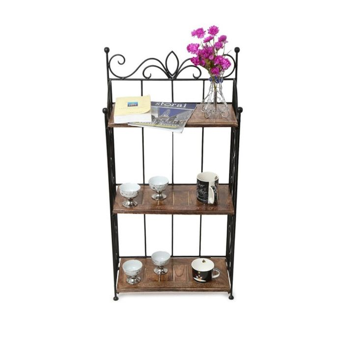 Onlineshoppee Home Decor 3 Shelf Rack/Book Shelf Big Size(LxBxH-21x10x41) inch