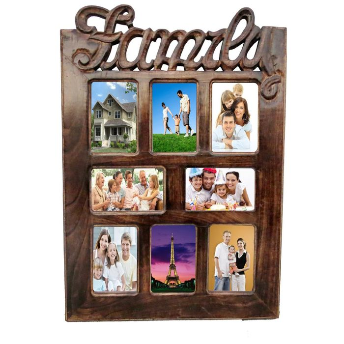Onlineshoppee Wooden Antique  Wall Hanging Family Picture Photo Frame For Living Room