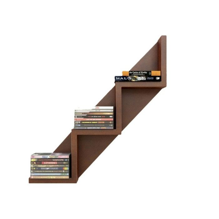 Onlineshoppee Wooden W Shaped Book Shelf Size 23x6.5x5 inch