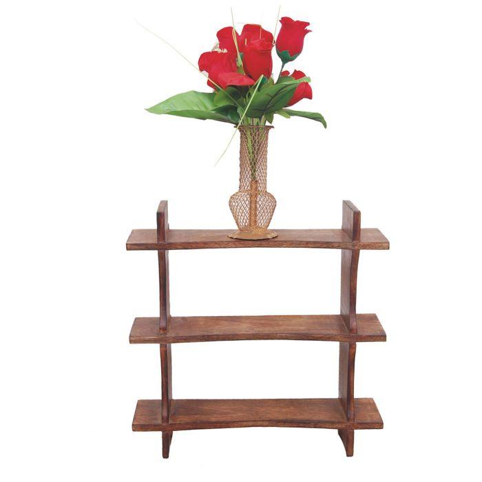 Onlineshoppee Beautiful Black 3 Tier Wooden Wall Shelves/Rack