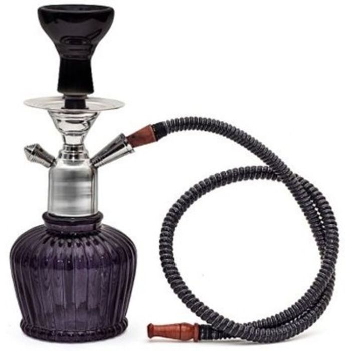 Onlineshoppee Home Decor Glass Hookah Color-Bl;ack