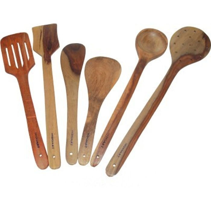 Onlineshoppee  Wooden Handmade  Serving and Cooking Spoon