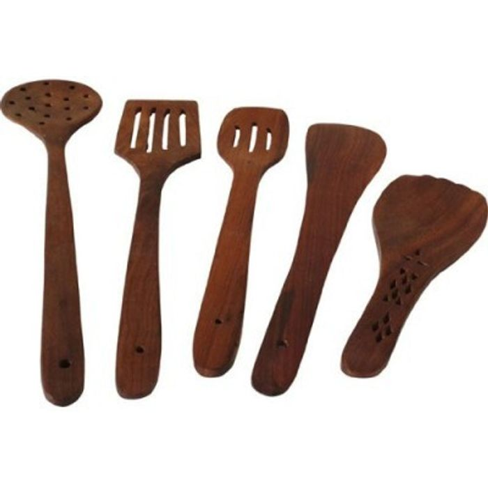 Onlineshoppee  Wooden Handmade  Serving and Cooking  Ladle