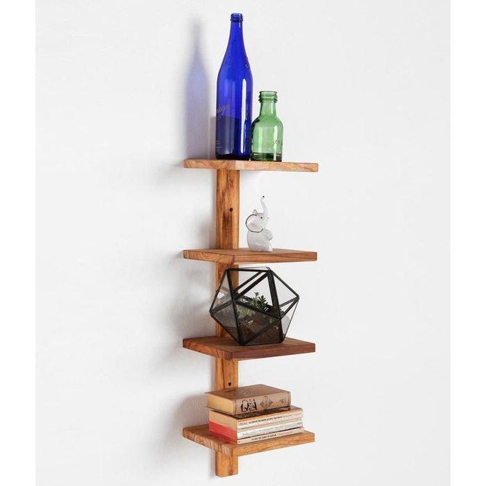 Onlineshoppee Beautiful Wooden  Fancy Wall Decor Rack Shelves Size (LxBxH-9x7x26) Inch
