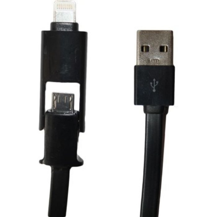 Onlineshoppee  2 in 1 micro USB Cable For Mobile And Tablets USB Cable - Black
