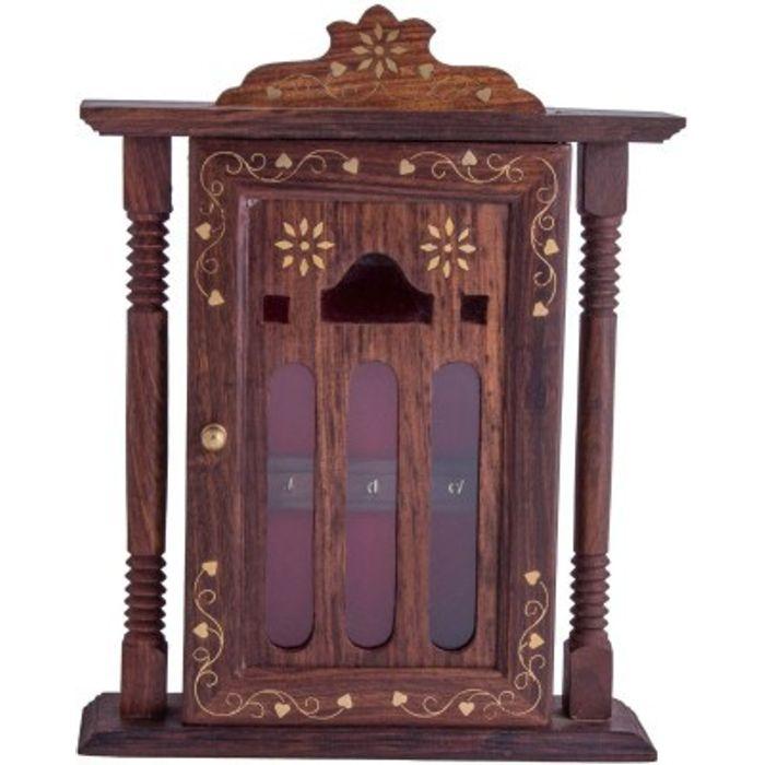 Onlineshoppee Handicraft Hand Made Beauiful Decorative Wall Hanging Wooden Key Holder Box