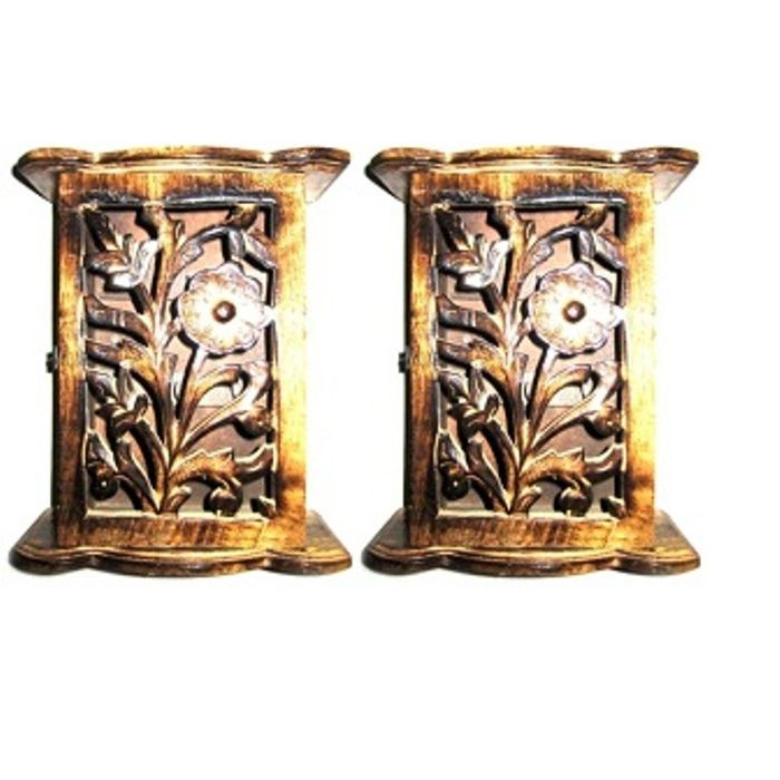 Onlineshoppee Classy Box Type Wooden Key Holder,Pack Of 2