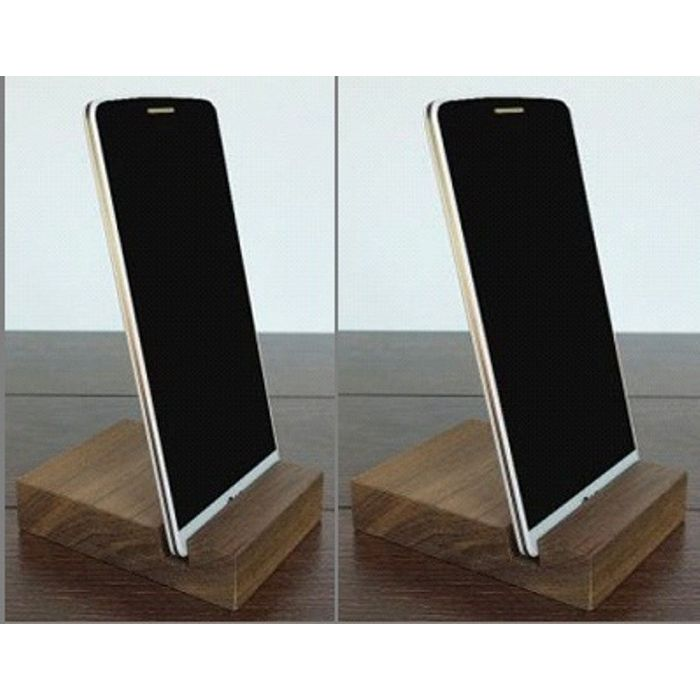 Onlineshoppee Wooden Stand,Mobile/Tablet/iPad, Mobile Stand For iphone,Htc, Samsung etc.Pack Of 2
