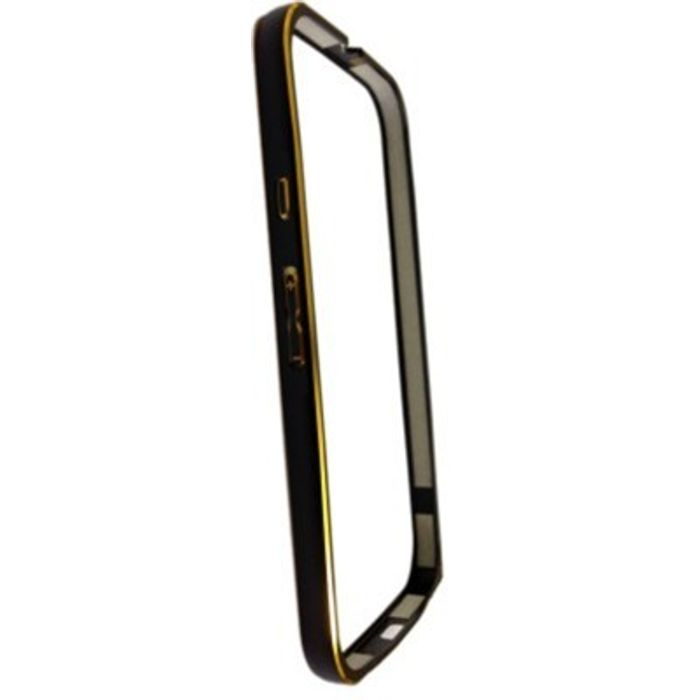 Samsung Galaxy E5 Black Color Metal Bumper Case Cover